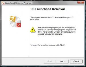 Removing U3 Launchpad